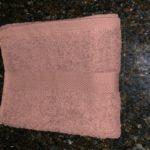 Brown hand towel