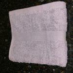 Grey hand towel