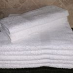 DYED BATH TOWEL WHITE