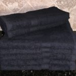 DYED BATH TOWEL BLACK