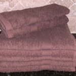 DYED BATH TOWEL BROWN