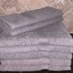DYED BATH TOWEL GREY
